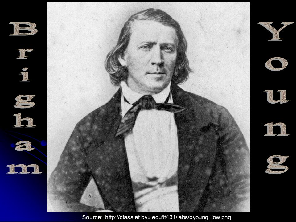 Brigham Young Source: http://class.et.byu.edu/it431/labs/byoung_low.png