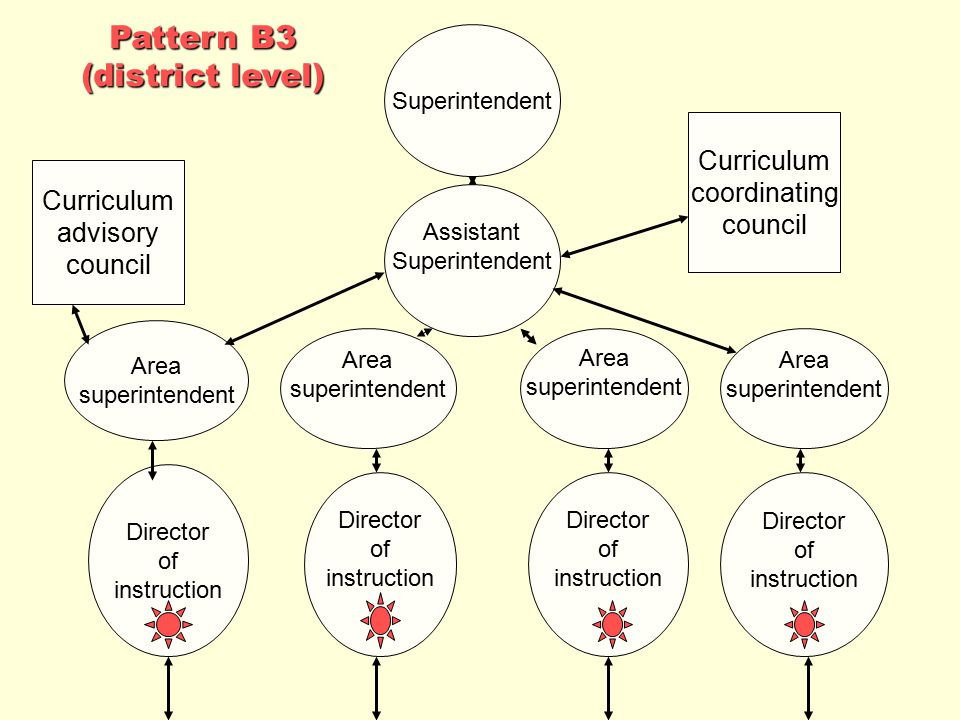 Pattern B3 (district level) Curriculum coordinating council Curriculum