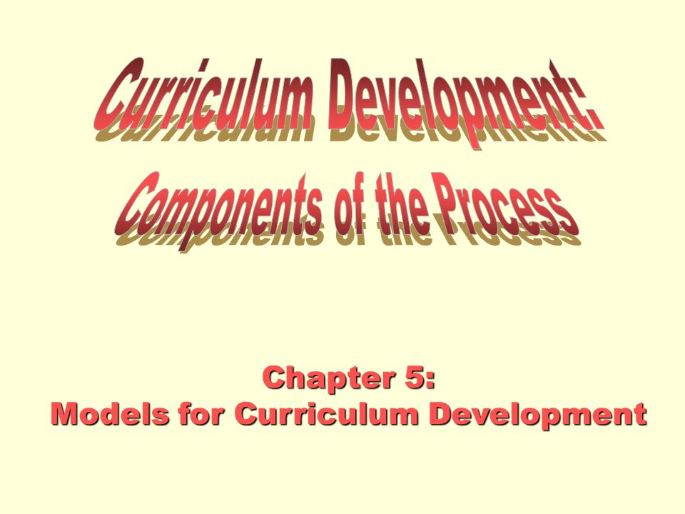 Curriculum Development: