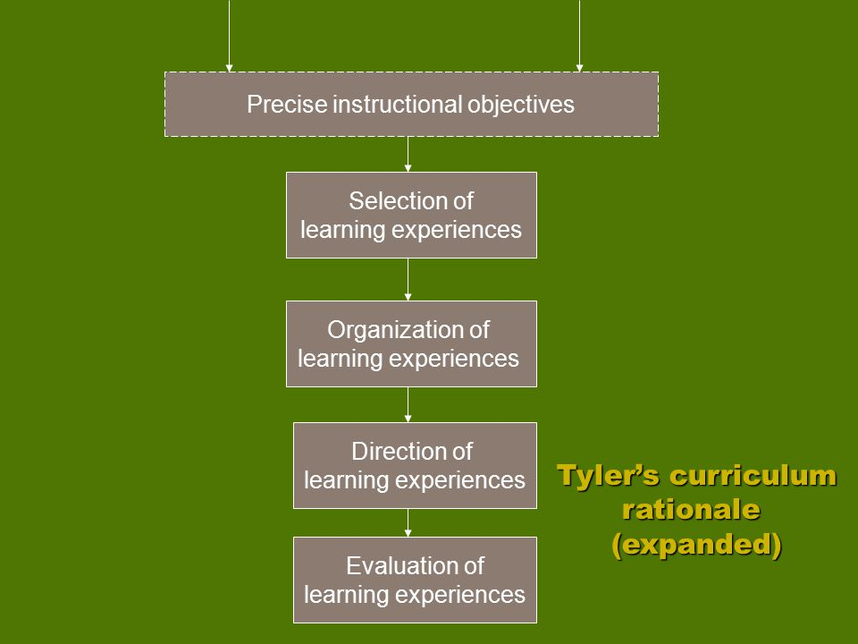 Tyler's curriculum rationale (expanded)