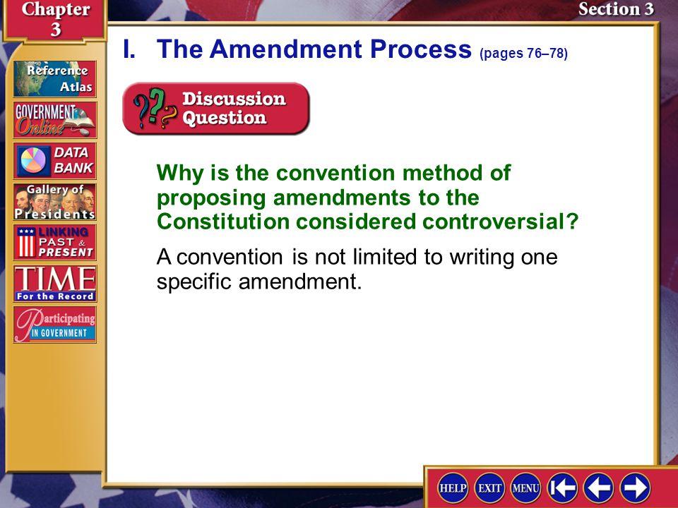I. The Amendment Process (pages 76–78)
