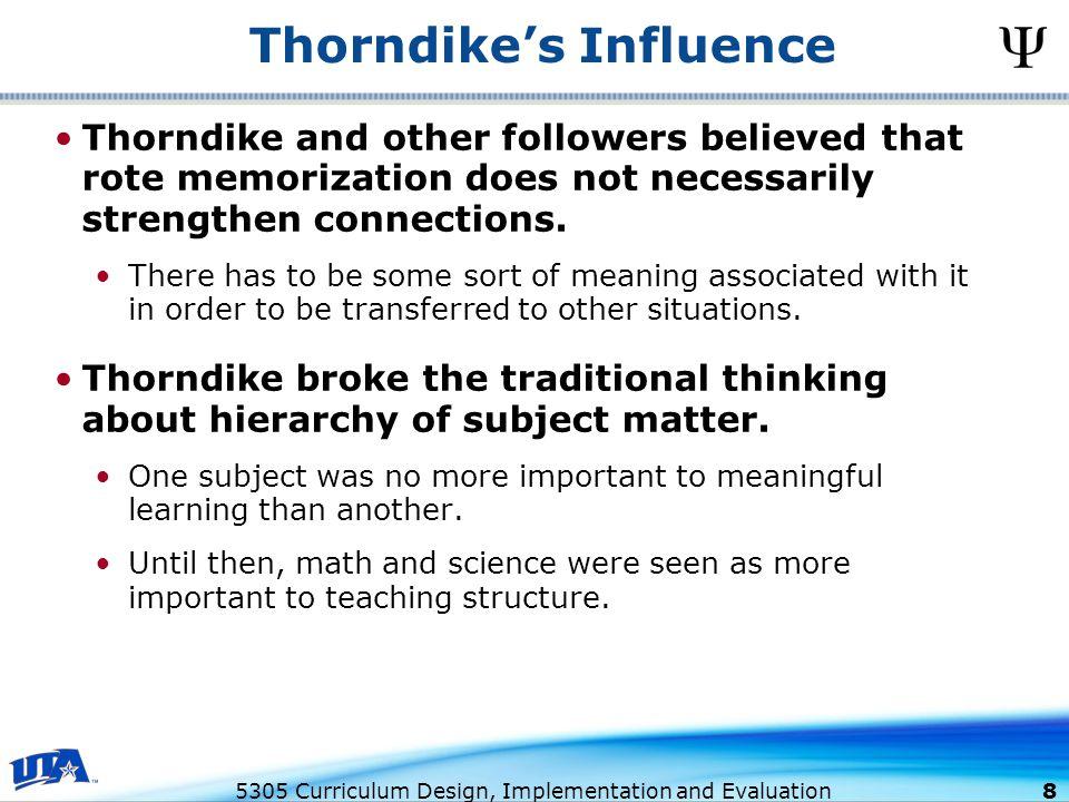 Thorndike's Influence