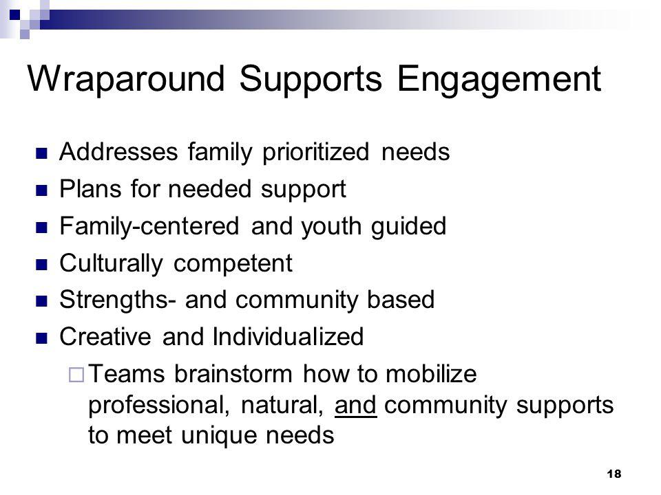 Wraparound Supports Engagement
