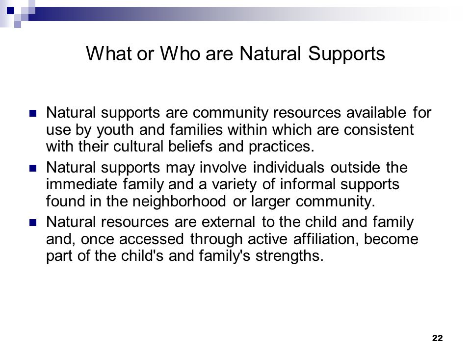 What or Who are Natural Supports