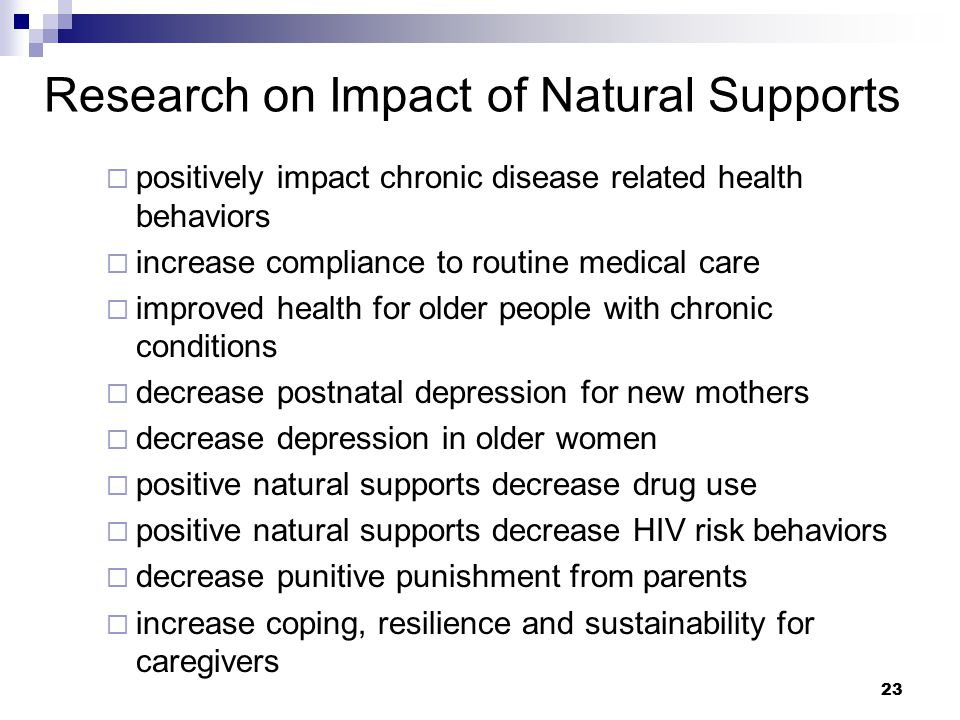Research on Impact of Natural Supports