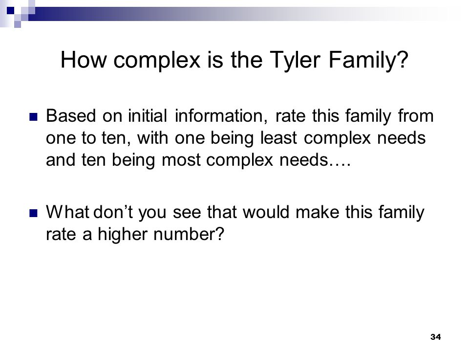 How complex is the Tyler Family