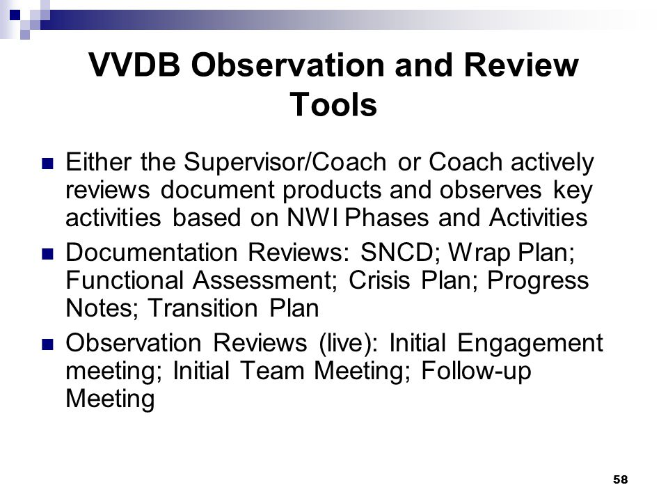 VVDB Observation and Review Tools