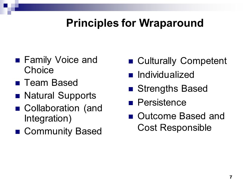Principles for Wraparound
