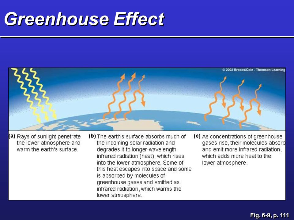 Greenhouse Effect Fig. 6-9, p. 111