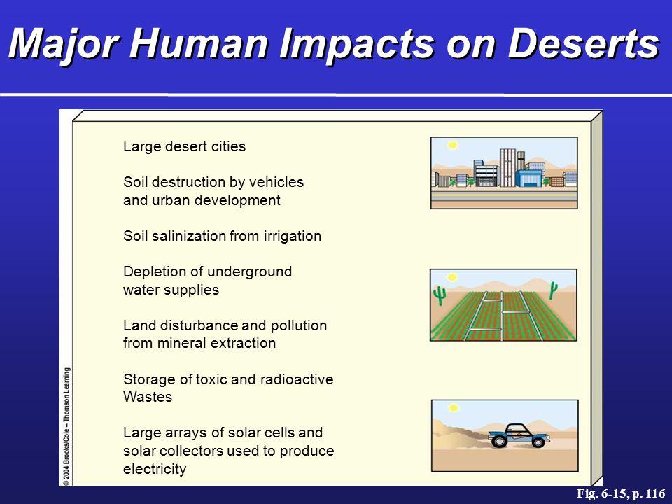Major Human Impacts on Deserts