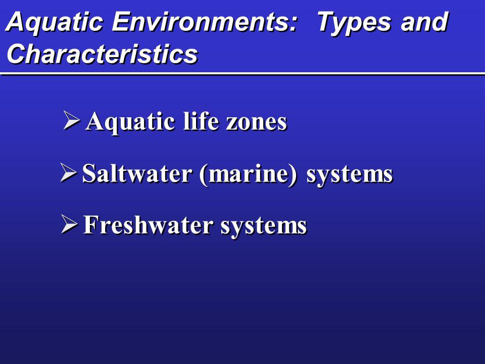 Aquatic Environments: Types and Characteristics