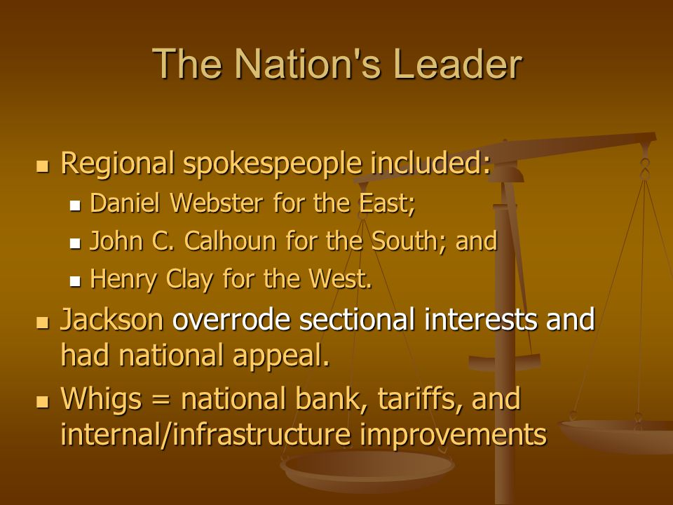 The Nation s Leader Regional spokespeople included: