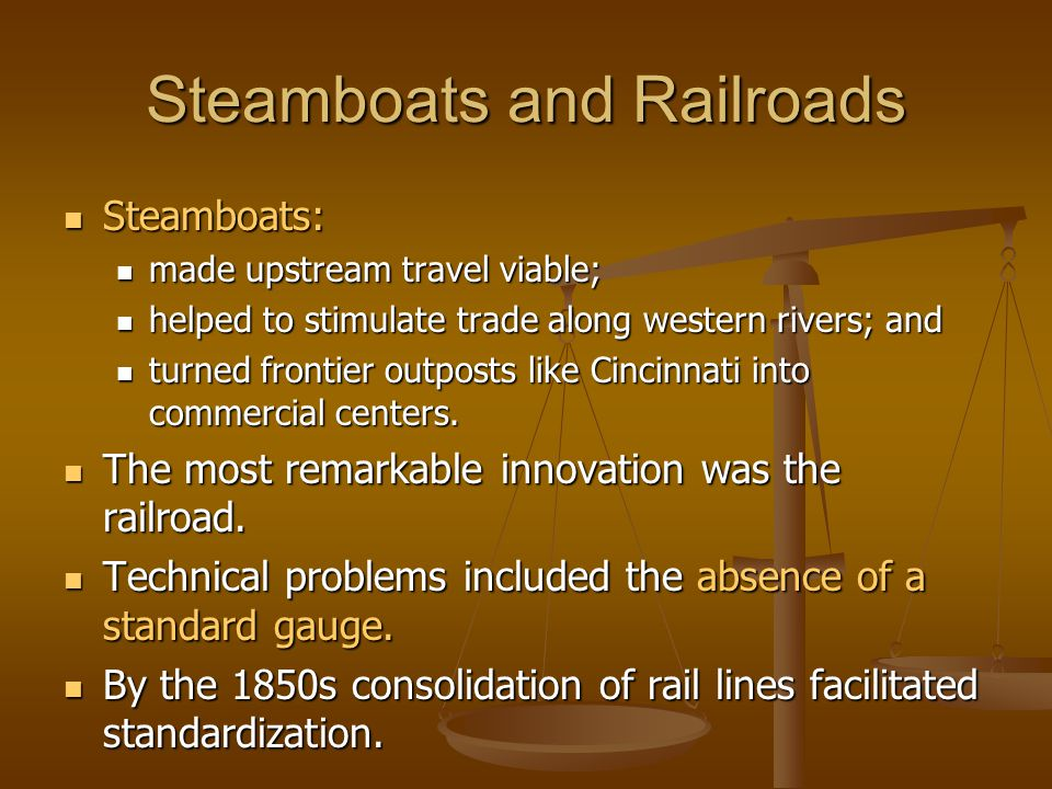 Steamboats and Railroads