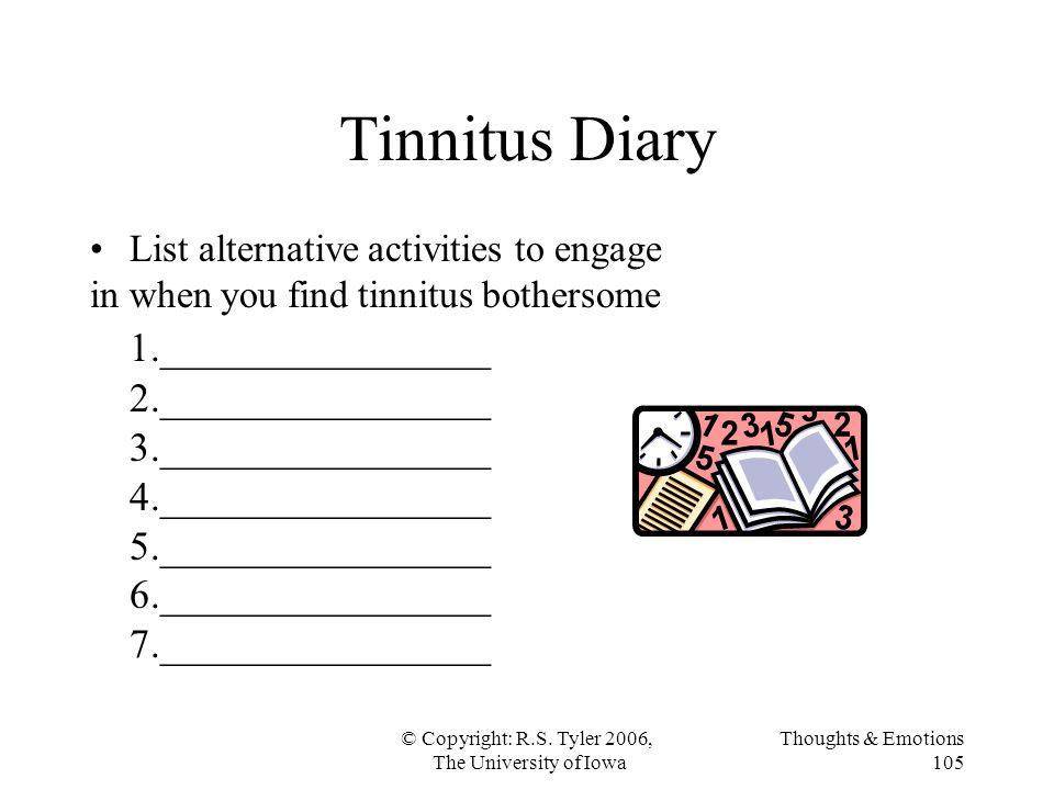 Tinnitus Diary 1.________________ 2.________________