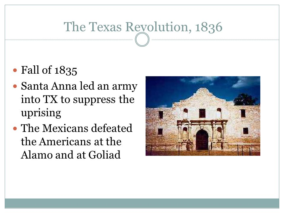 The Texas Revolution, 1836 Fall of 1835