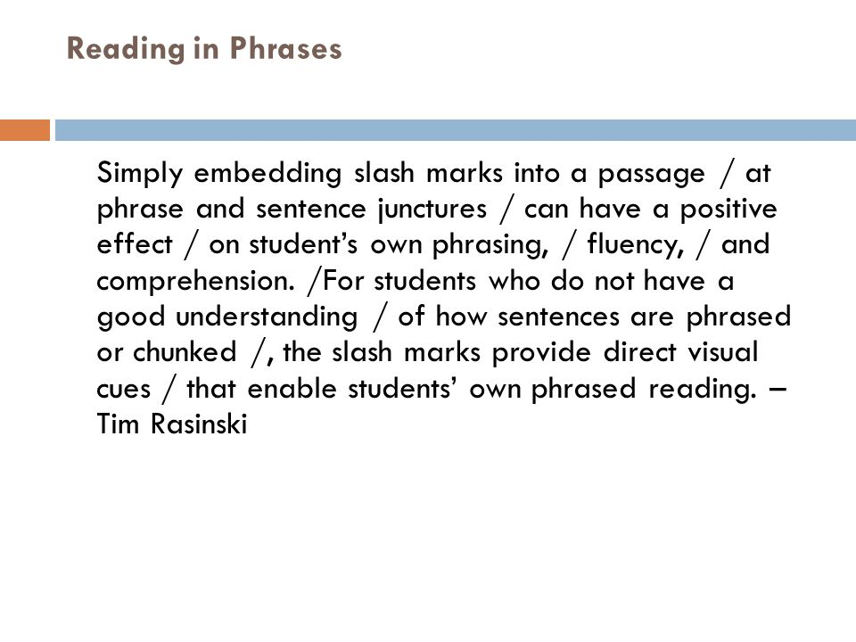 Reading in Phrases