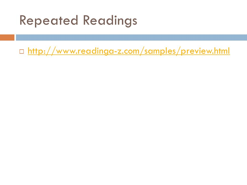 Repeated Readings http://www.readinga-z.com/samples/preview.html