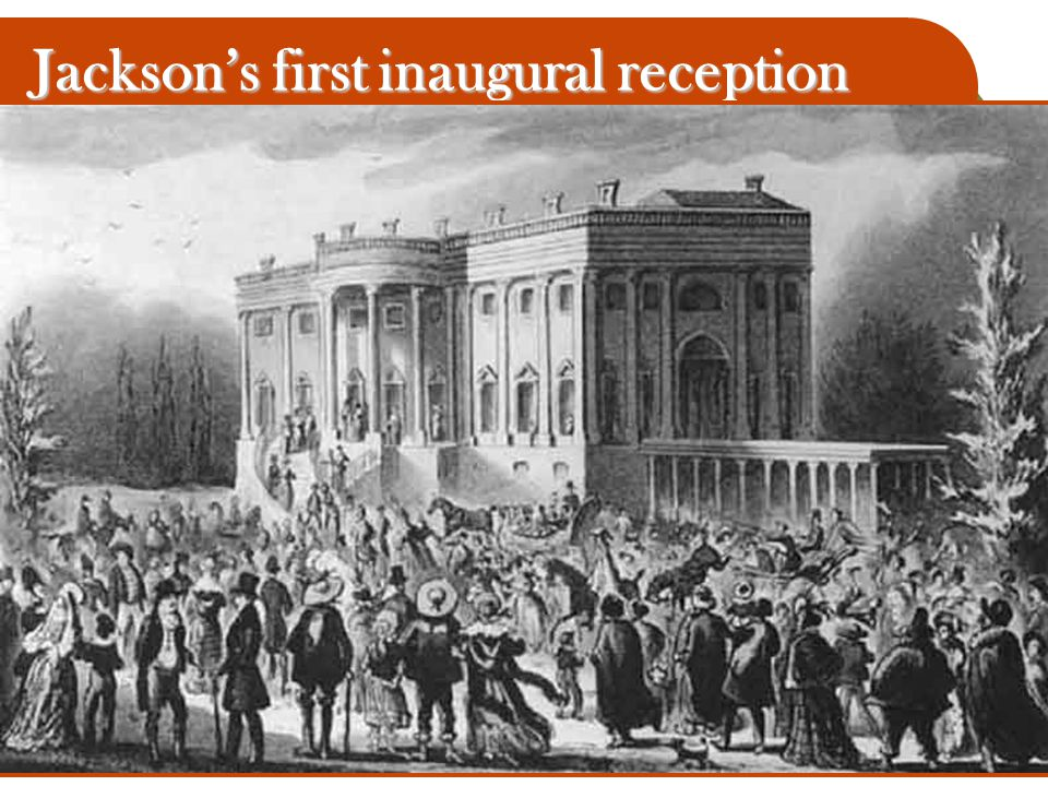 Jackson's first inaugural reception