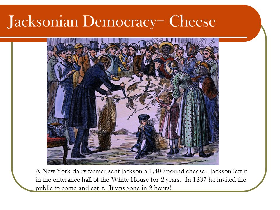 Jacksonian Democracy= Cheese