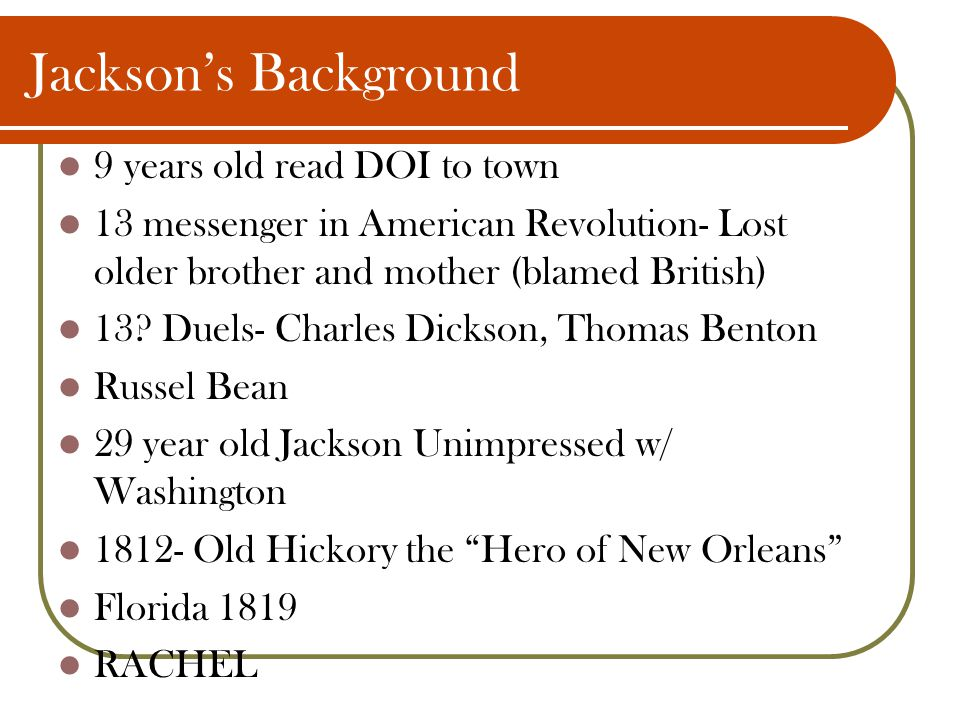 Jackson's Background 9 years old read DOI to town