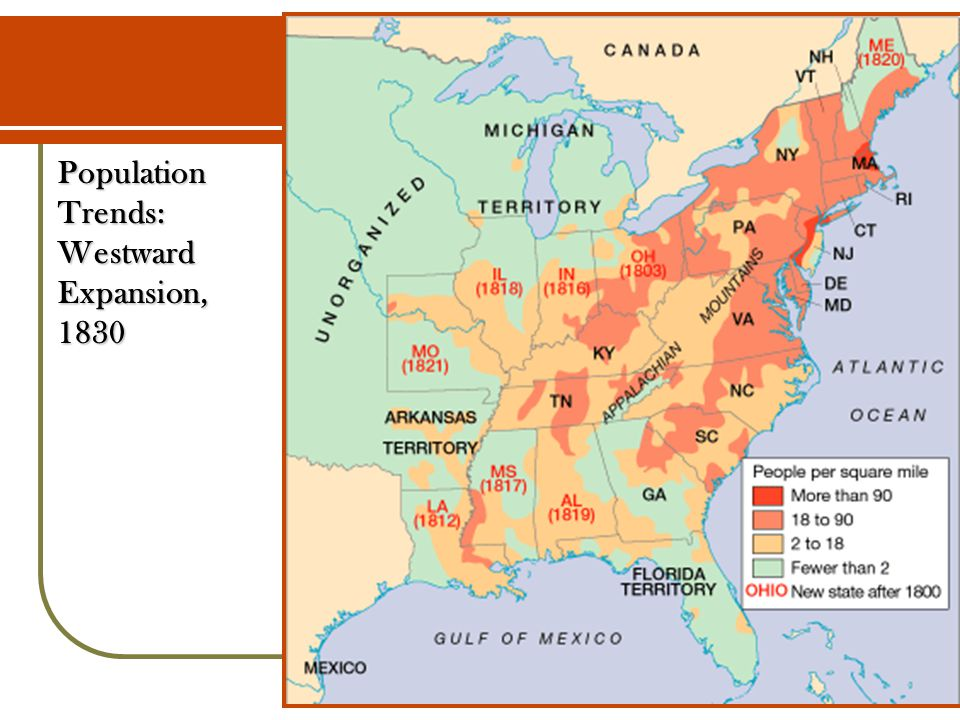 Population Trends: Westward Expansion, 1830