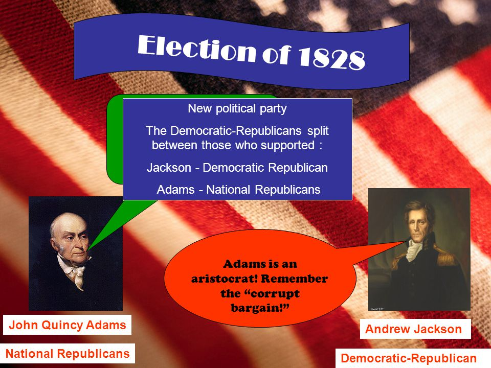 Election of 1828 New political party