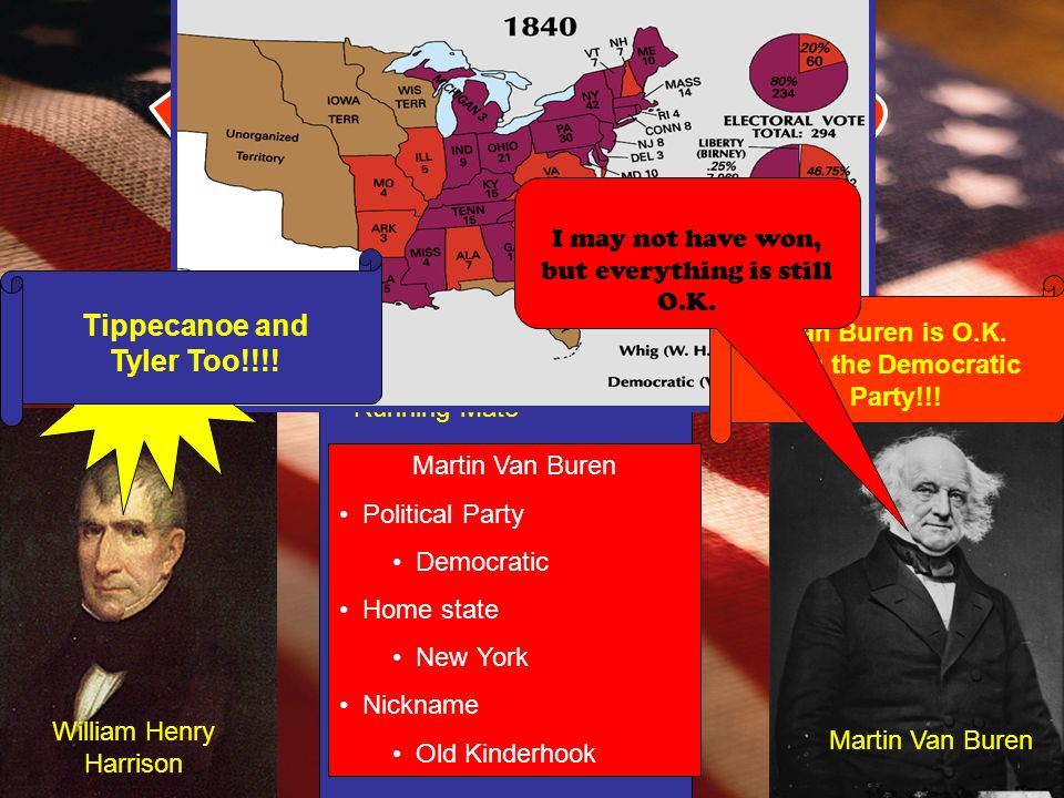 Election of 1840 Tippecanoe and Tyler Too!!!!