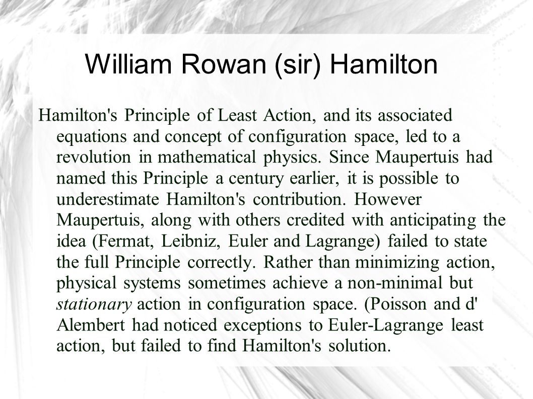 William Rowan (sir) Hamilton