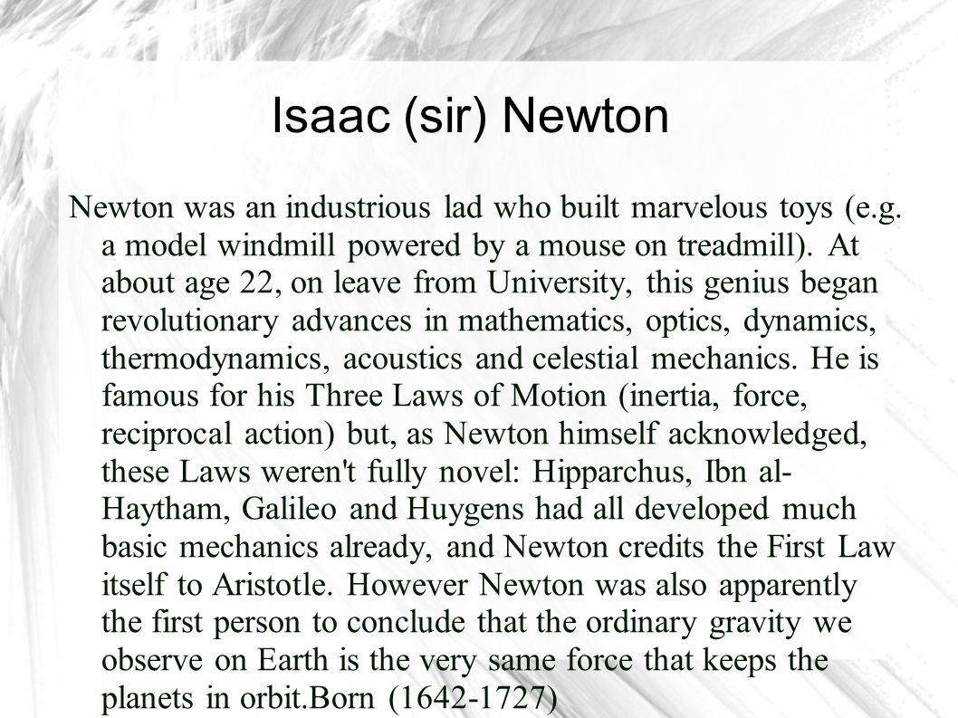 Isaac (sir) Newton