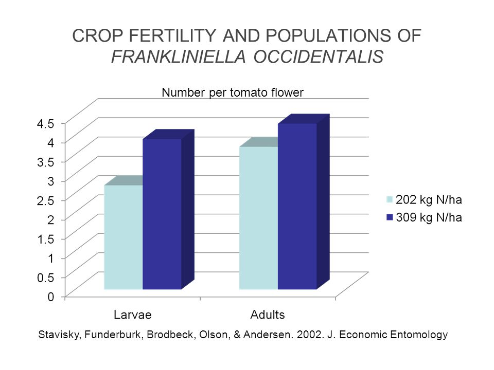 CROP FERTILITY AND POPULATIONS OF FRANKLINIELLA OCCIDENTALIS
