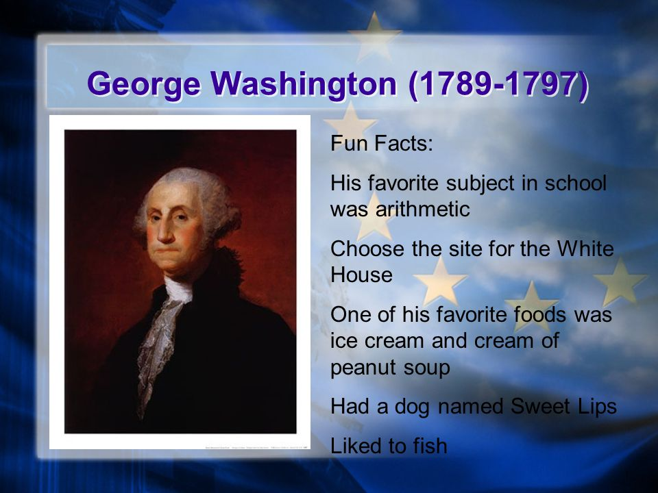 George Washington (1789-1797) Fun Facts: