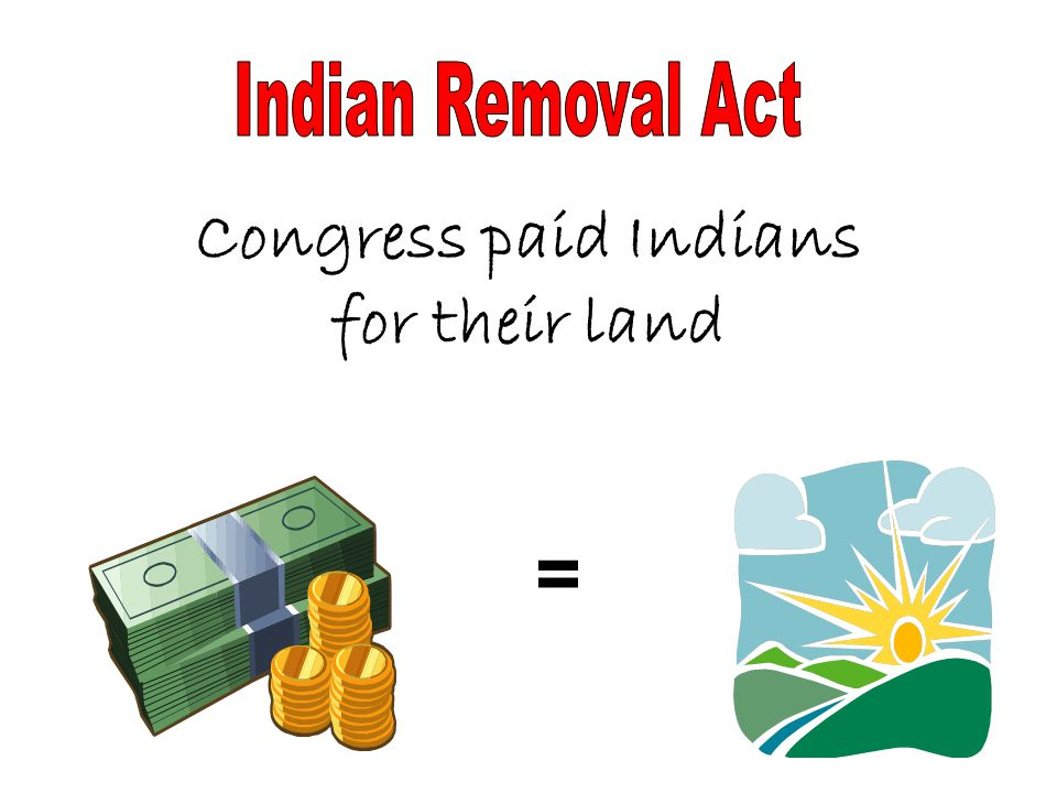 Congress paid Indians for their land