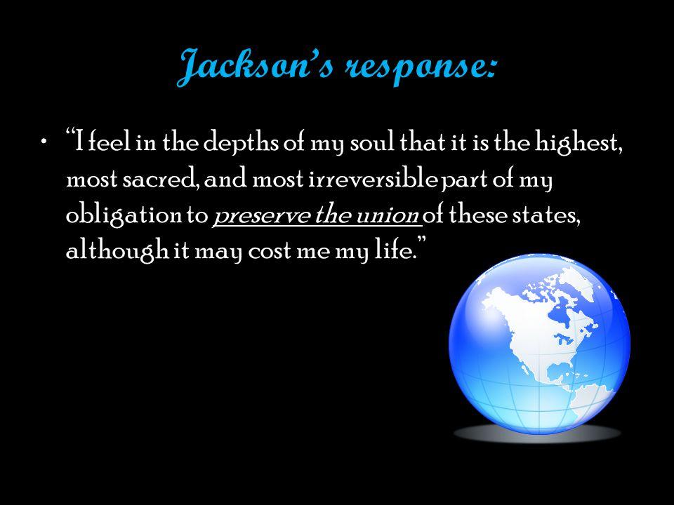Jackson's response: