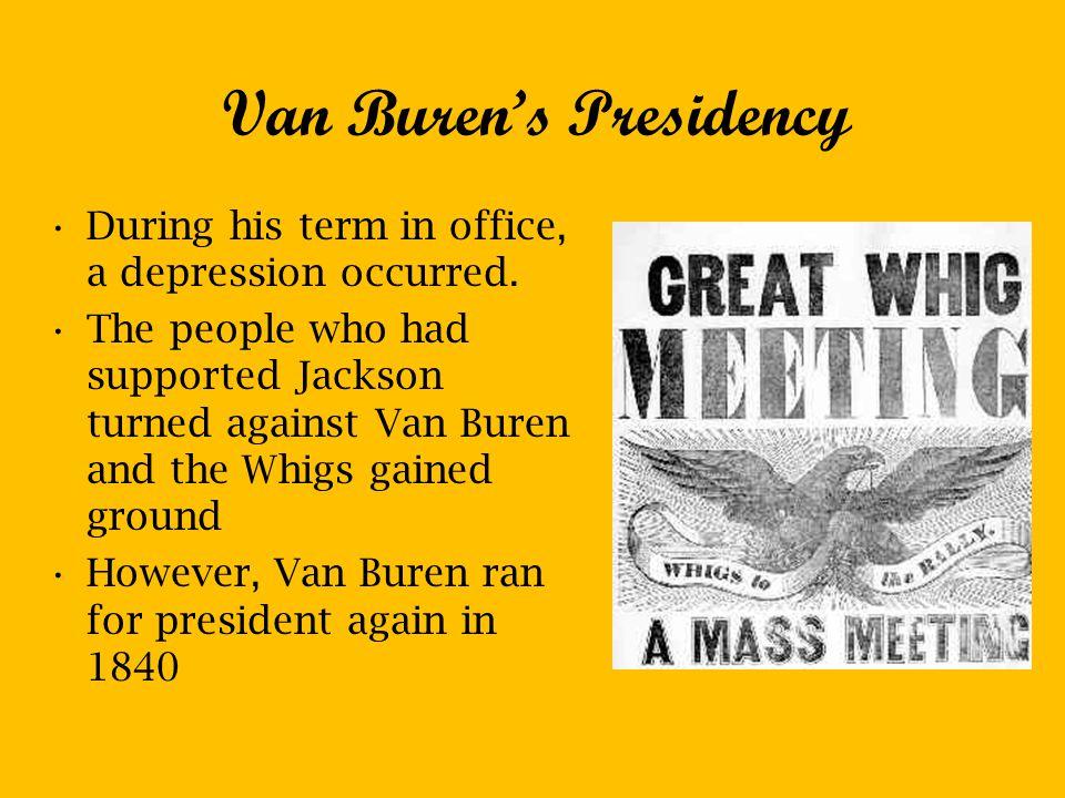 Van Buren's Presidency