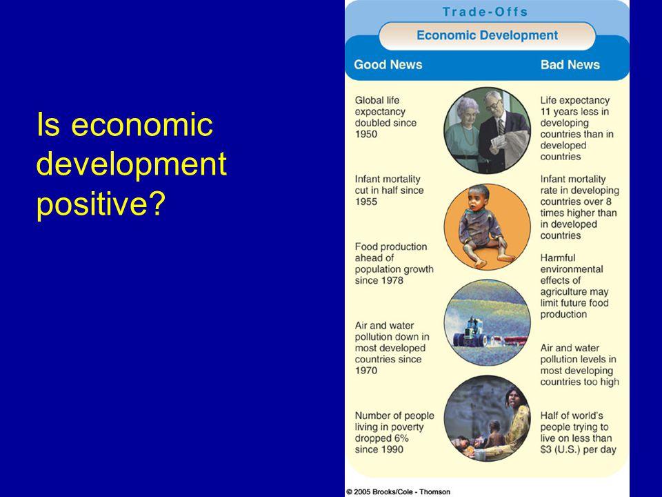 Is economic development positive