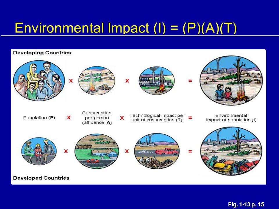 Environmental Impact (I) = (P)(A)(T)