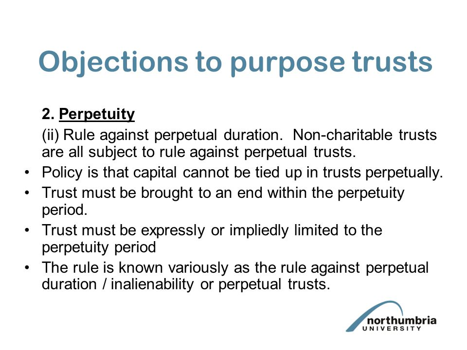Objections to purpose trusts