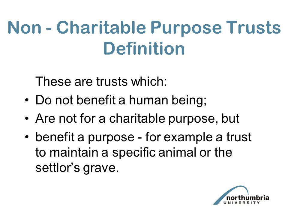 Non - Charitable Purpose Trusts Definition