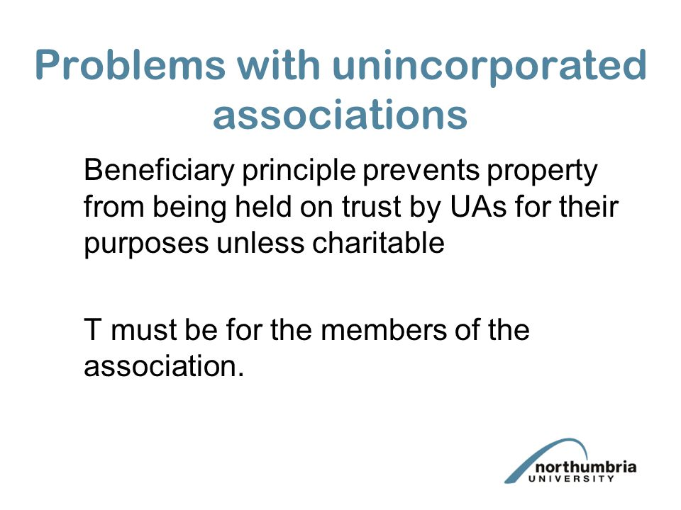 Problems with unincorporated associations