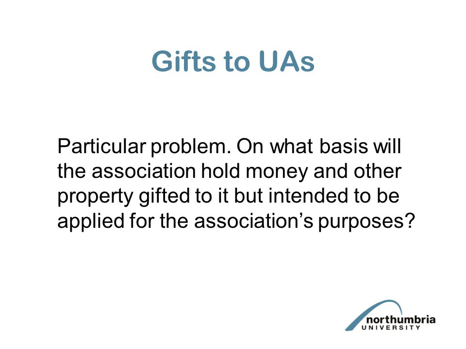 Gifts to UAs