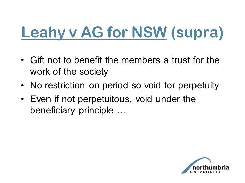 Leahy v AG for NSW (supra)