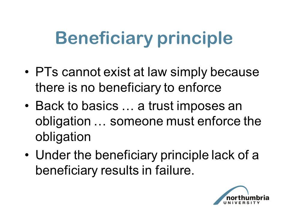 Beneficiary principle