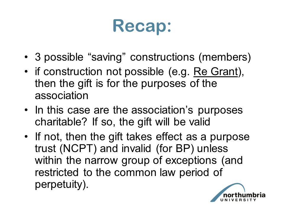 Recap: 3 possible saving constructions (members)