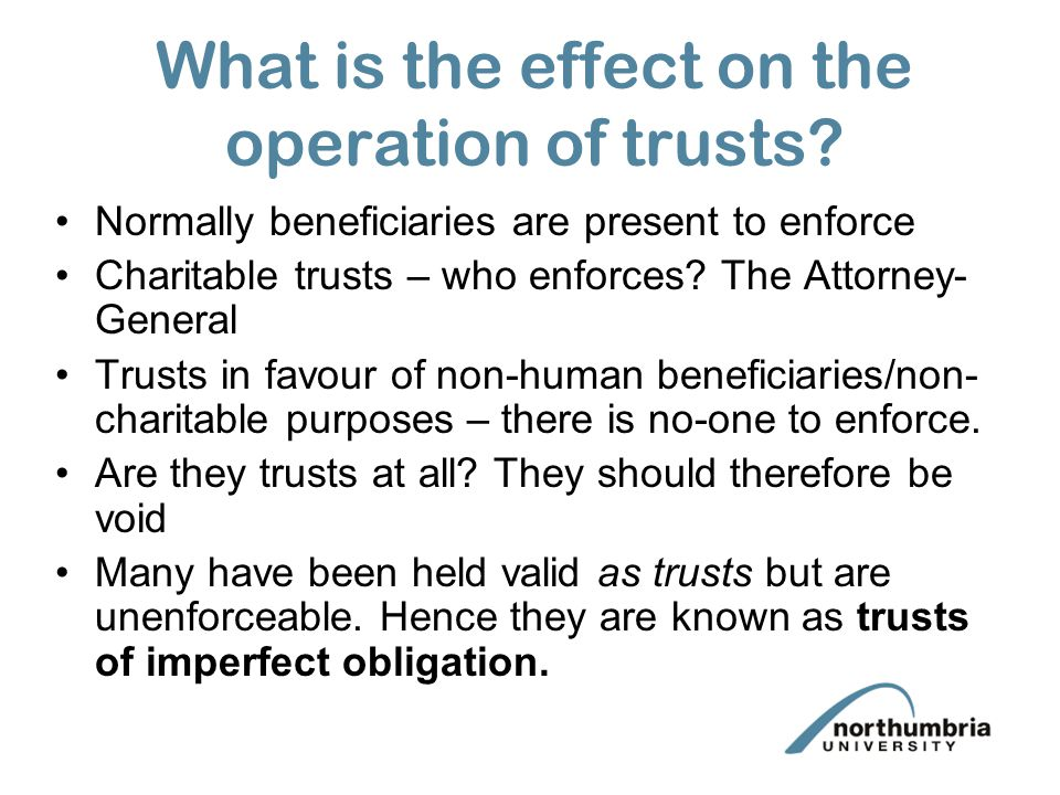 What is the effect on the operation of trusts