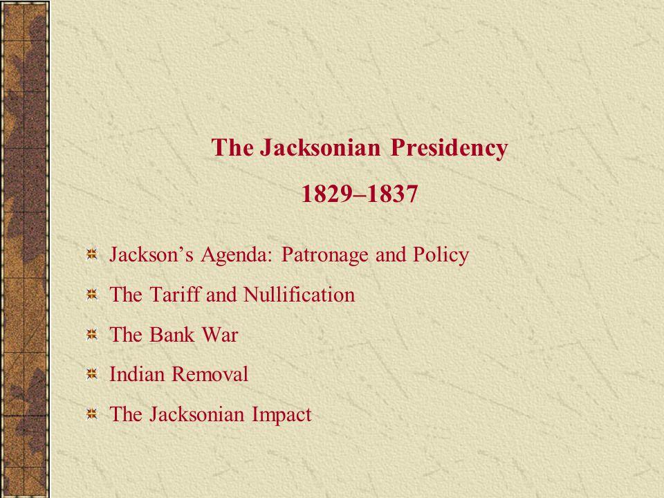 The Jacksonian Presidency