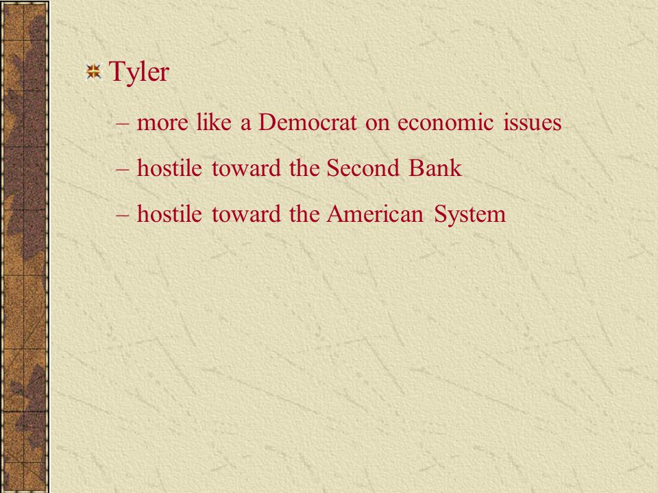 Tyler more like a Democrat on economic issues