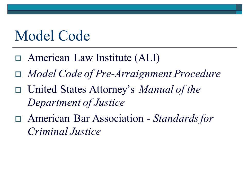 Model Code American Law Institute (ALI)