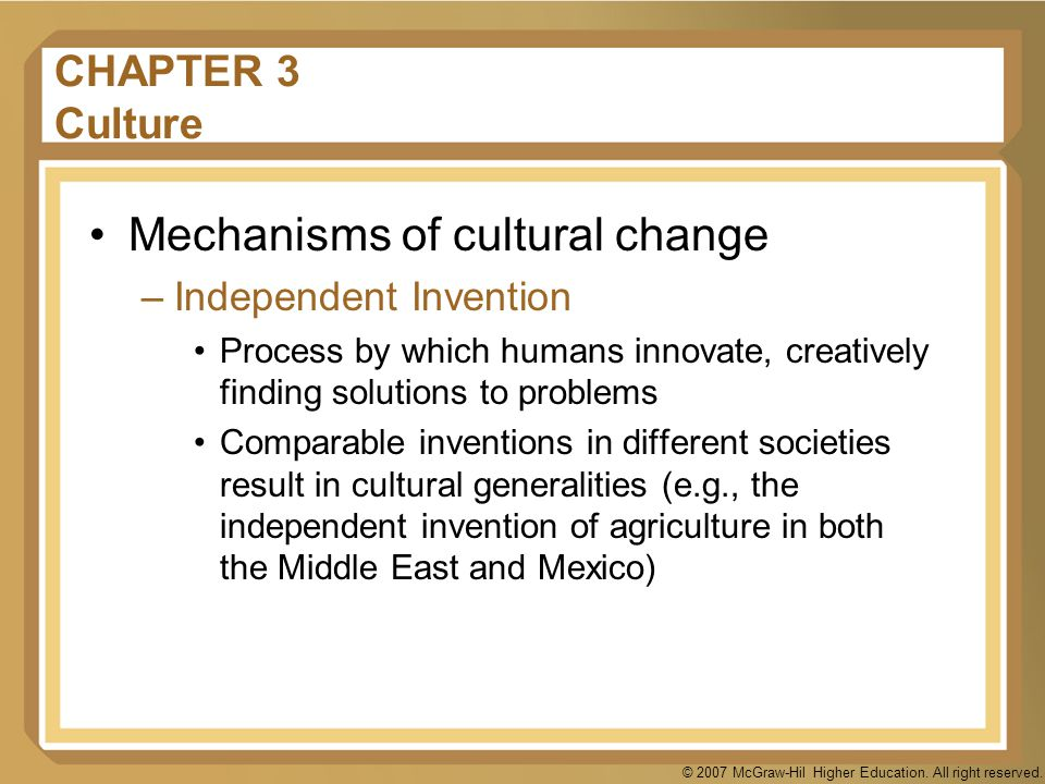 Mechanisms of cultural change