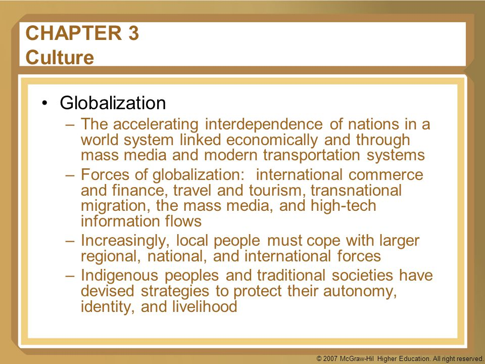 CHAPTER 3 Culture Globalization