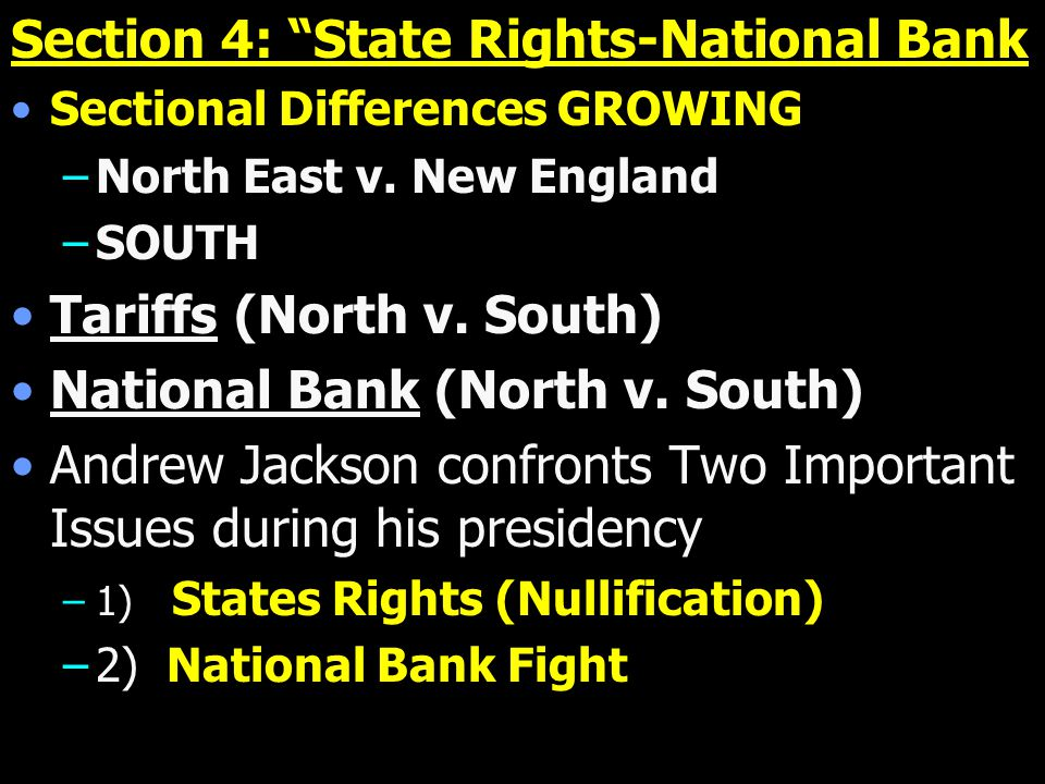 Section 4: State Rights-National Bank